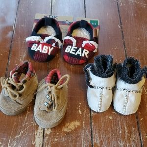 6wk - 6mo Baby Boy Shoe Bundle